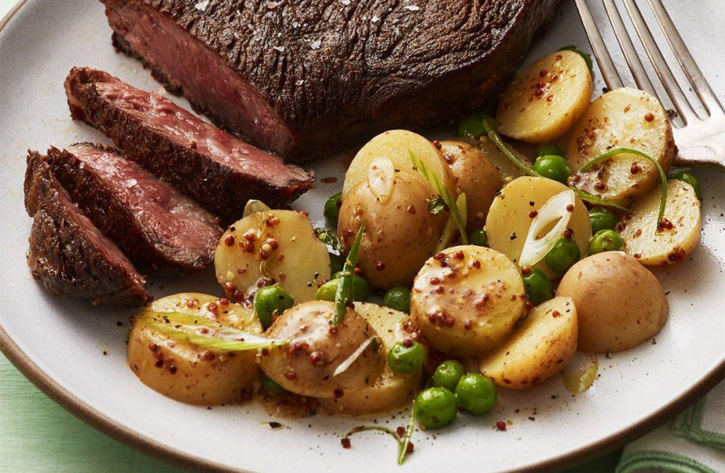 Картофельный гарнир к стейку