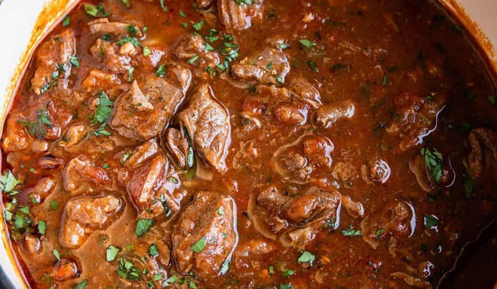 Азу по-татарски с говядиной в виде супа