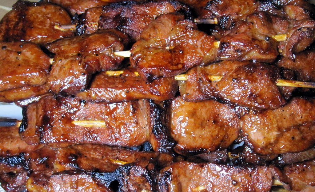Свиной карбонад шашлык