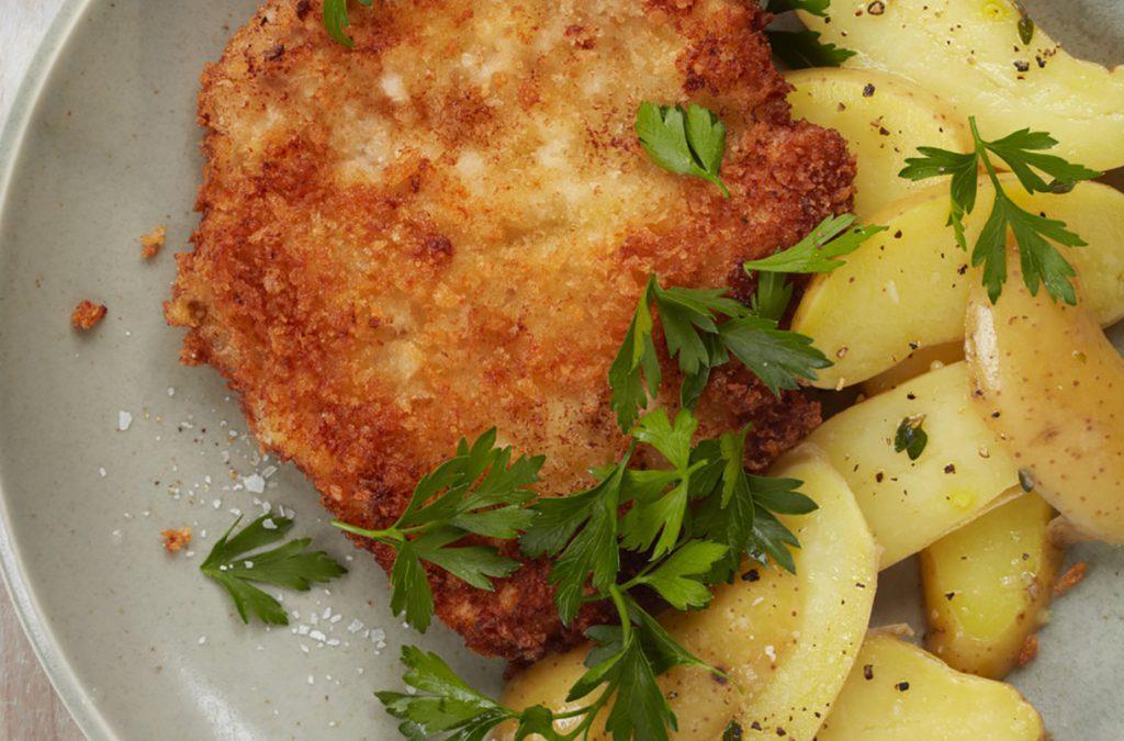 Картофельный гарнир к шницелю