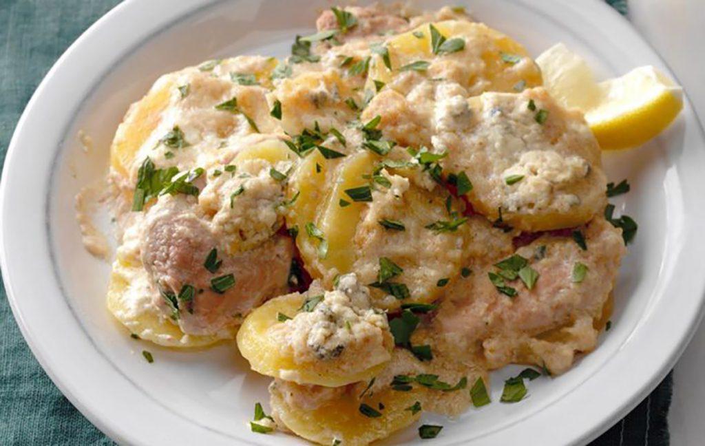 Шницель из свинины с картошкой