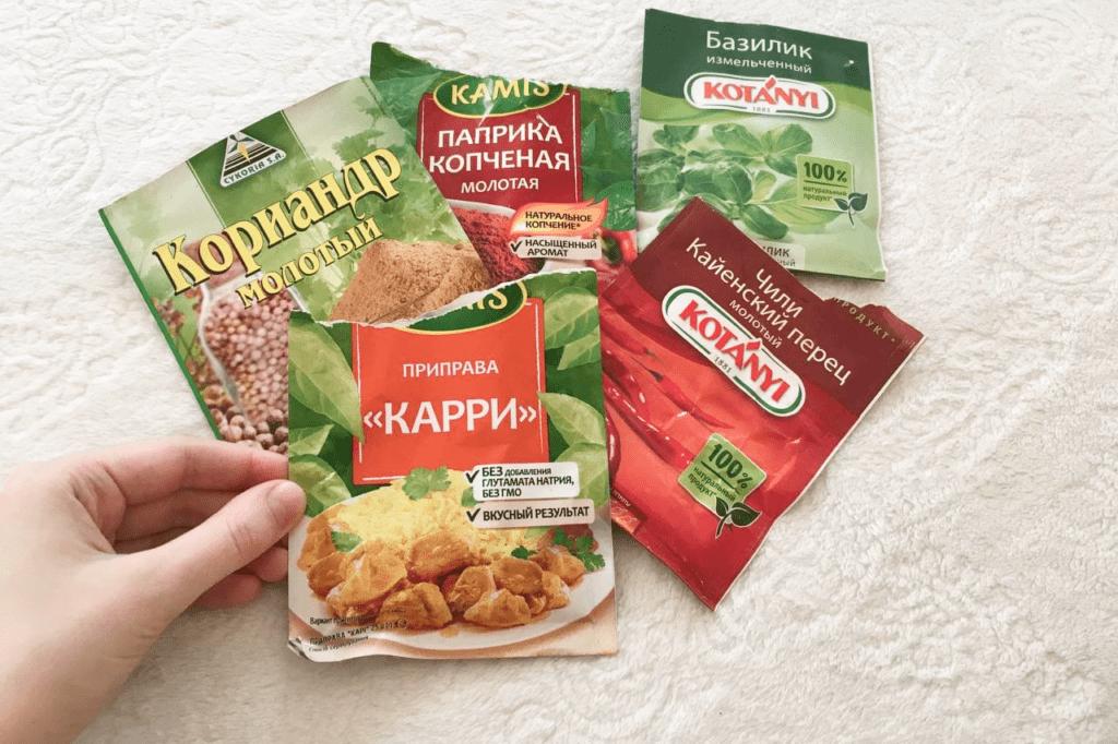 Приправы для мяса по тайски