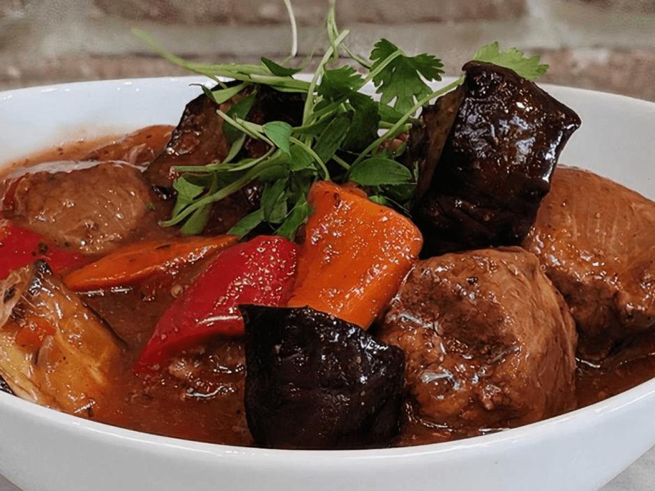Чанахи рецепт с баклажанами в кастрюле