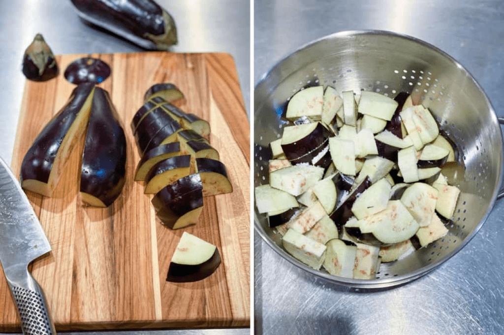 Как резать баклажаны для чанахи
