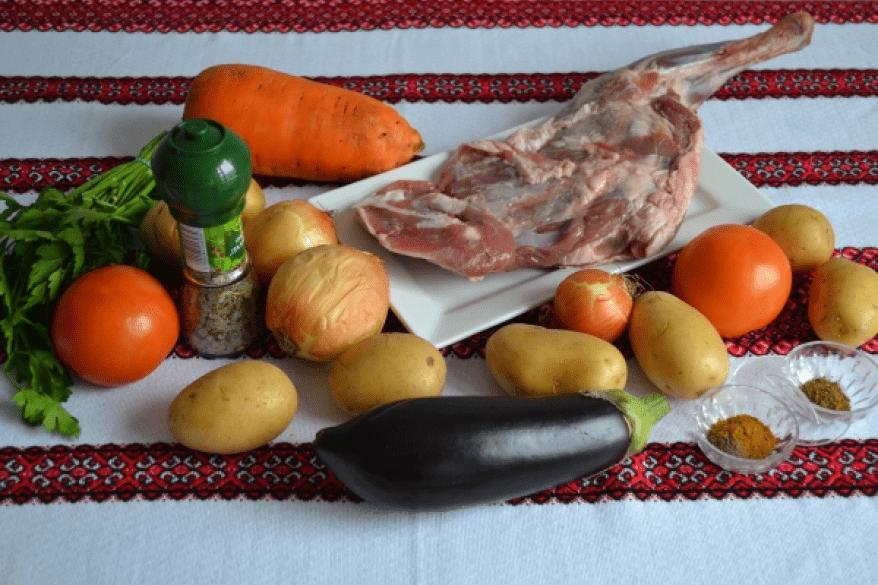 Мясо по грузински с овощами рецепт с фото