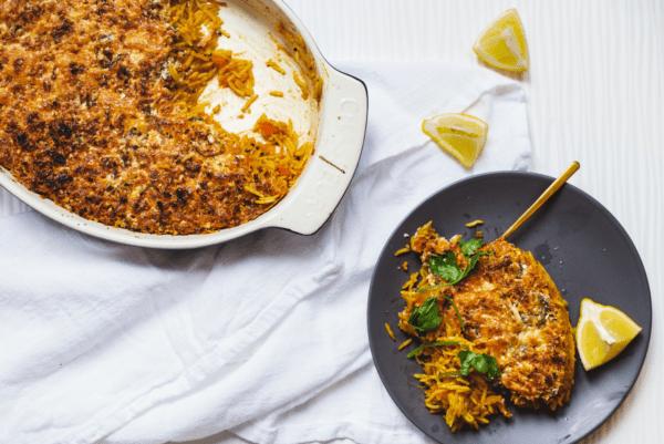 Рис с мясом в духовке на протвине