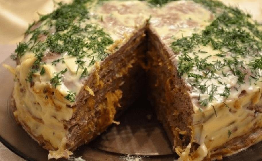 как сделать печеночный торт в домашних условиях