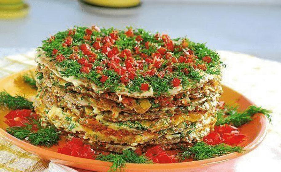 Торт печёночный «Нежный» из куриной печени